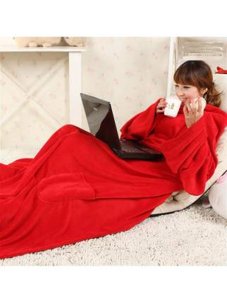 Одеяло-плед с рукавами Snuggie (Снагги) (Цвет: Красный  )