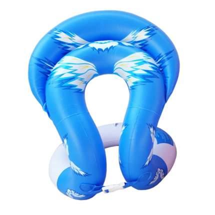 Детский надувной жилет Baziator с подголовником, L рост 155-175 см, синий с рис.