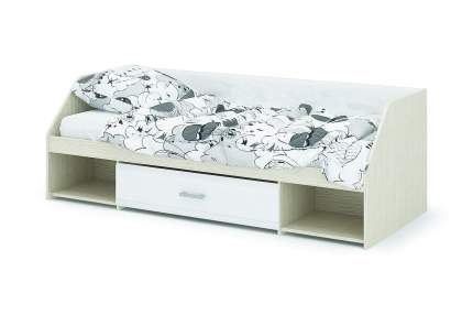 Кровать Стендмебель  Симба одноярусная Белый глянец Дуб Белфорт, 800х1900 мм