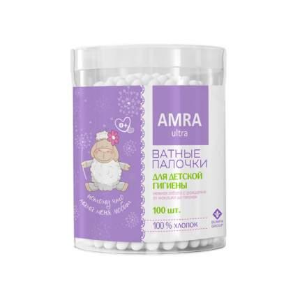 Ватные палочки для детской гигиены Amra 100 шт.