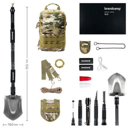 Лопата туристическая многофункциональная складная Brandcamp XL5 c походной сумкой