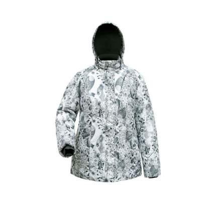 Куртка утепленная женская Сибирь р. 50/3-4 цв. серые снежинки Росомаха (1048)