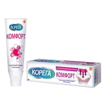 Крем для фиксации зубных протезов Corega Комфорт мятный вкус 40г