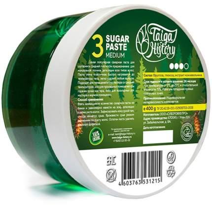 Сахарная паста для депиляции Taiga History средняя 400 гр