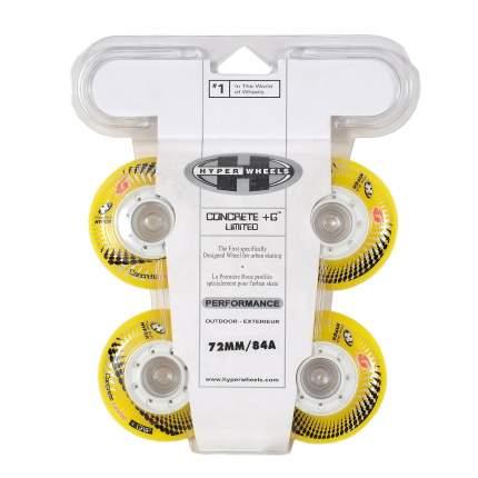 Колеса HYPER CONCRETE+G LTD yellow/white 72мм/84A (4 шт)