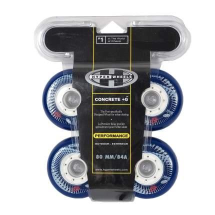 Колеса HYPER CONCRETE+G LTD reflex blue/white 80мм/84A (4 шт)