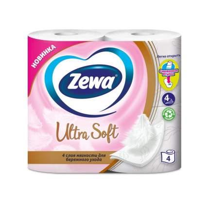 Туалетная бумага Zewa,ultra soft 4-х сл., 4 шт