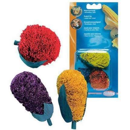 Игрушка для грызунов Nobby резина, желтый, зеленый, красный, фиолетовый 13х7х13см