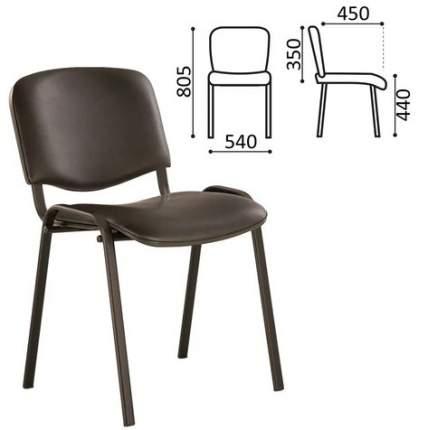 Офисный стул ISO, черный каркас, кожзам черный