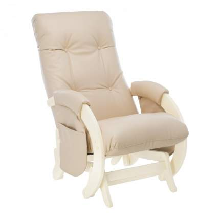 Кресло-глайдер с карманами Milli Smile, дуб шампань/polaris beige