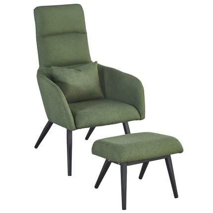 Кресло с подставкой для ног и подушкой Berg Bridjet, зеленый