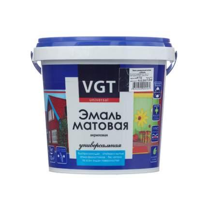 Эмаль VGT ВД-АК-1179 универсальная матовая черная RAL9005, 1 кг