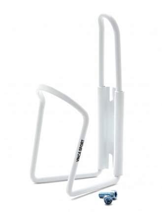 Флягодержатель алюминиевый в комплекте с болтами, белый