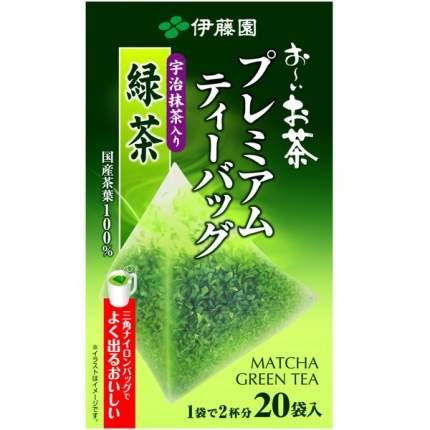 Itoen Зеленый чай в пакетиках Premium коробка 20 шт.