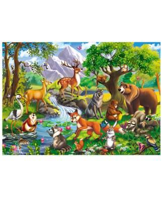 Пазлы Лесные звери, 60 элементов Рыжий кот