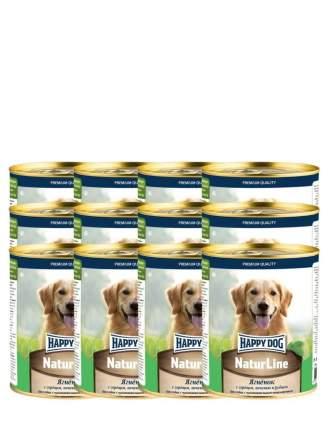 Влажный корм для собак Happy Dog Natur Line, ягненок, 12шт, 970г