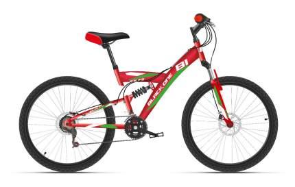 Black-one Велосипед Подростковые Black One Ice FS 24 D, год 2021  , цвет Красный, Зеленый