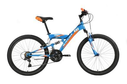 Black-one Велосипед Подростковые Black One Ice FS 24, год 2021  , цвет Синий, Оранжевый
