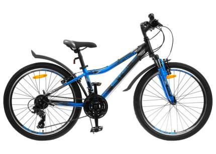 Stels Велосипед Подростковые Navigator 410 V 21 sp 24 V010, год 2021  , цвет Черный, Синий