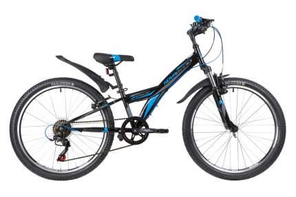 Novatrack Велосипед Подростковые Racer 24 Susp, год 2020  , ростовка 10, цвет Черный