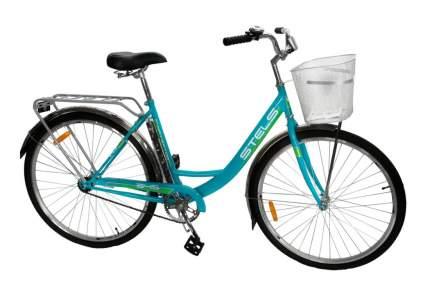Stels Велосипед Navigator 345 28 Z010, 2018, ростовка 20, Зеленый, Голубой