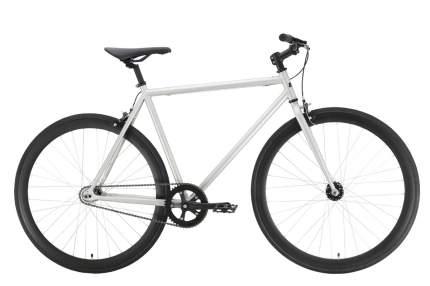 Black-one Велосипед Black One Urban 700, 2021, ростовка 19, Серебристый, Черный