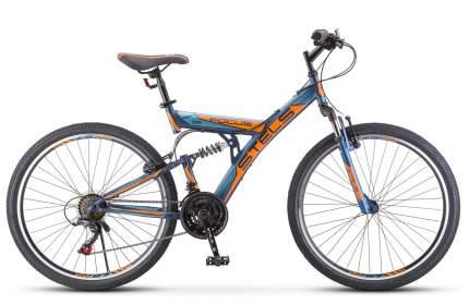 Stels Велосипед Focus V 26 18 Sp V030, 2020, ростовка 18, Синий, Оранжевый
