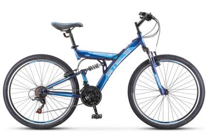 Stels Велосипед Focus V 26 18 Sp V030, 2020, ростовка 18, Синий, Синий