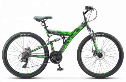 Stels Велосипед Focus MD 26 21 sp V010, 2020, ростовка 18, Черный, Зеленый