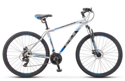 Stels Велосипед Navigator 900 MD 29 F010, 2019, ростовка 17.5, Серебристый, Синий