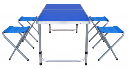 Стол складной четырёхместный алюминиевый UPU Ladder UPCZ-3