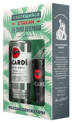 Ром Bacardi Carta Blanca 0,7 л  + стакан
