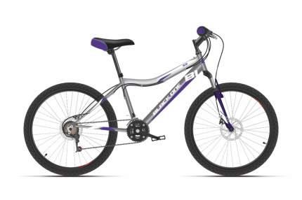 "Велосипед Black One Ice 24 D 2021 12"" серый/белый/фиолетовый"