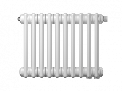 Радиатор трубчатый Zehnder Charleston Retrofit 2056, 12 сек.1/2 бок.подк. RAL9016 +кроншт