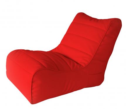 Бескаркасный модульный диван Папа Пуф Lounger Black one size, экокожа, Red (красный)