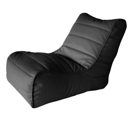 Кресло бескаркасное Папа Пуф Soft Lounger Black, размер XL, экокожа, черный