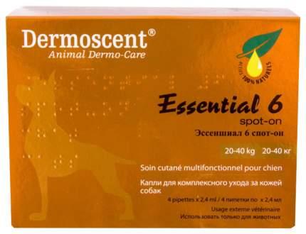 Капли для собак 20-40 кг Dermoscent Essential 6 spot-on, 4 пипетки
