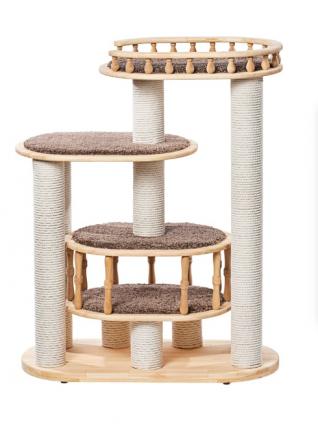 Комплекс для кошек Пушок Деруша деревянная 100х42х110см