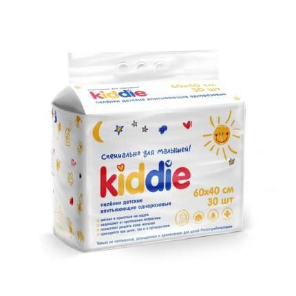 Пеленки детские одноразовые Kiddie Эконом 60x40, 30 шт.