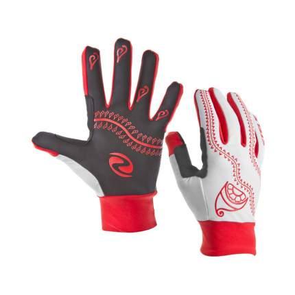 Велоперчатки WCG 44-0011 зимние красно-бело-чёрные L