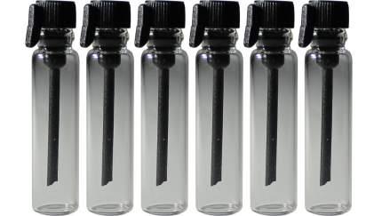 Пробники (фиолки) Aromaprovokator для духов 3 ml крышка черная набор 100 штук