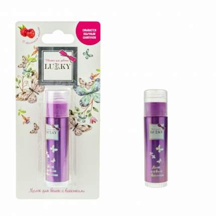 Мелок для волос Lucky, с ароматом малины, цвет: розовый, 10 грамм Lukky