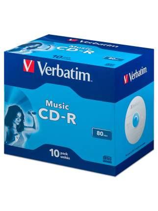 Диск Verbatim CD-R 80min AUDIO (Music) Jewel,  упаковка 10 шт