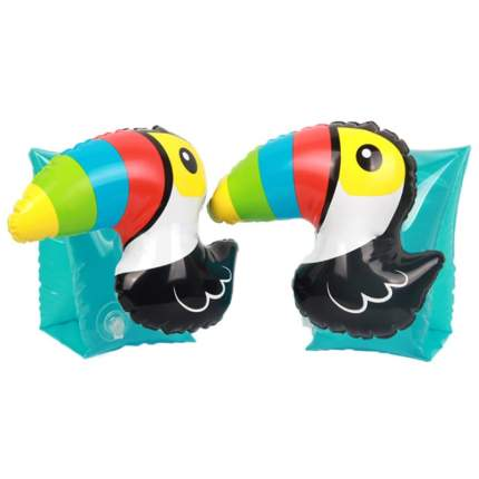 Детские надувные нарукавники Baziator для детей от 3-х до 6 лет, 2 штуки, Туканы