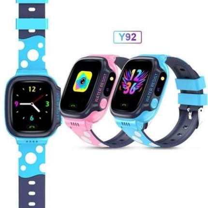 Смарт-часы Smart Baby Watch Y92 2G, с поддержкой Wi-Fi и GPS, HD камера, SIM card Blue