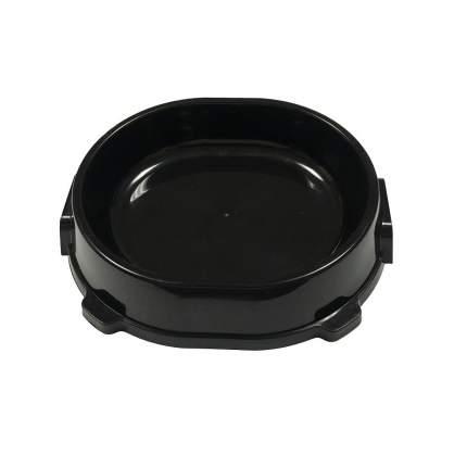 Одинарная миска для кошки ФАВОРИТ, пластик, черный, 0.22 л