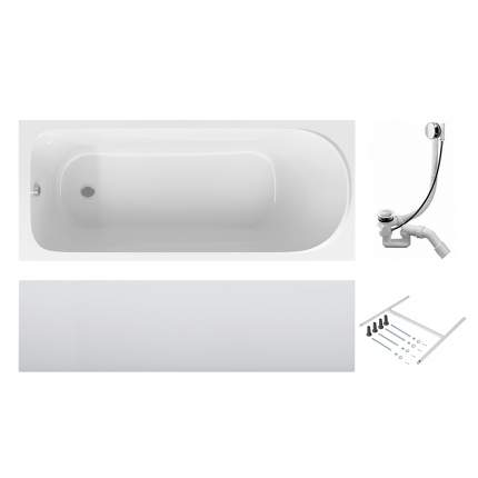 Акриловая ванна AM.PM Sense 1500х700 с каркасом, со сливом-переливом W75A-150-070W-KL