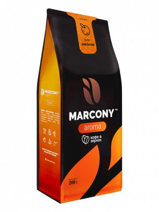 Кофе молотый MARCONY AROMA со вкусом апельсина 200г