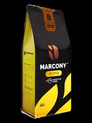 Кофе молотый MARCONY AROMA со вкусом баварского шоколада 200г