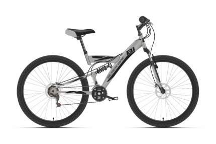 """Велосипед Black One Flash FS 27.5 D 2021 20"""" серый/черный"""